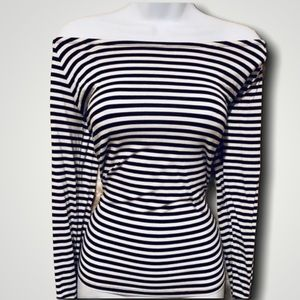 Long Sleeve Stripped Top